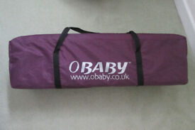 OBABY TRAVEL COT FOR SALE.