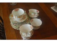 6 piece vintage floral teaset