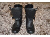 Leather Motorcycle Boots FRANK THOMAS (Aquapore) Waterproof