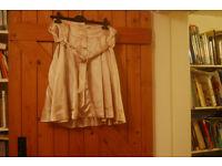 Chloe, 'See' beige silk knee length skirt size 12 tags still on , never worn