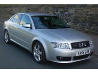 2004 AUDI A4 1.9 TDI SPORT DIESEL (115) SILVER 4 DOORS SALOON 5 SPEED MANUAL