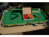 Snooker table, child size table top & legs.