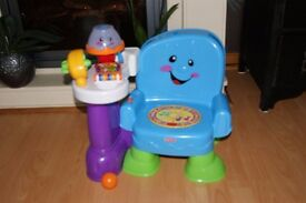 Fisher price laugh and learn musical chair blue