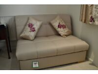 Sofa-Bed, very easily converts, spotless cream/beige upholstery, hardly used.