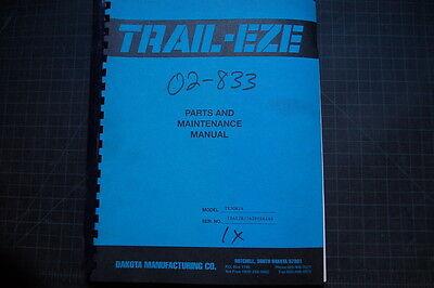 Trail-eze Te30r Heavy Duty Tilt Bed Trailer Service Maintenance Parts Manual 26