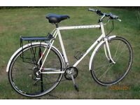Raleigh Road Bike, white frame.See picture , in good working order.Ideal for work, college etc.£49
