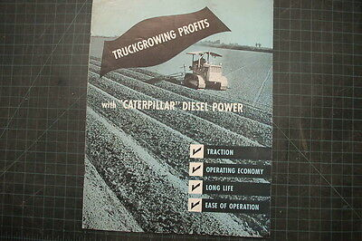 Caterpillar Farm Plowing Vintage D2 Tractor Dozer Brochure Manual Magazine Cat