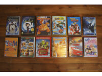 12 kids DVDs for £12