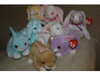 8 Ty Beanie Babies Bunny Rabbits for Easter