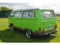 VW Camper (bus) 1972 Super-charged rust effect Bay window RHD