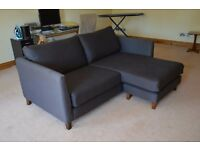 Debenhams mocha 2-seat sofa + ottoman