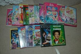 Large collection of dvd's Barbie, flubber,muppets, etc 16 in total £12