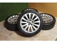 "Genuine Vauxhall Insignia 18"" Alloy wheels SRi Elite Silver Alloys Opel Insignia"