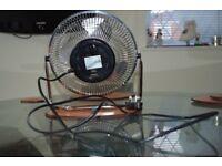 Beldray Clock Fan Red and Chrome Desk Fan