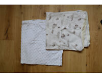 Two cosy cot or pram blankets, both 78x68cm (M&S, Tu) £8