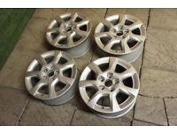 """Genuine Audi A3 16"""" Alloy wheels 5x112 8P VW Golf Caddy Sport Cabrio Alloys"""