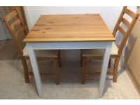 LERHAMN Ikea Kitchen Dining Table and 2 chairs