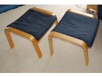 Ikea POÄNG footstools