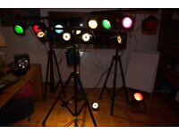 Stage light 27 piece set (perect for stage lighting, bands, theatre and parties) TAKING OFFERS