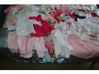 3 bags of baby girl clothes 0-3M, 3-6M, 6-9M