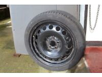 Seat/VW/Skoda full size spare wheel and tyre 16""
