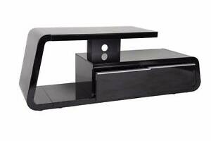 TV Stand Cabinet Unit Furniture - Large, High Gloss Black Lansvale Liverpool Area Preview