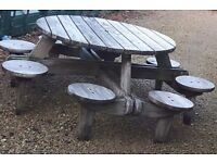 8 seater garden bench good quality does dismantle .. seat cushions provided
