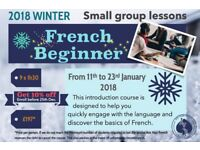 Learn French in V. small group w.QUALIFIED PROFESSIONAL Native TEACHER