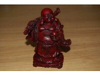 Very Humorous Red Colored Smiling Buddha Ornament