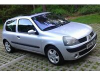 IDEAL FIRST CAR Cheap Insurance Class 2005 Reg, Renault Clio 1.2 Dynamique 3 Dr,New MOT,68,000 Miles