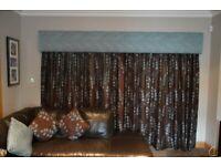 Professionally made pelmets & curtains
