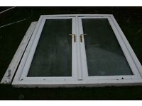 UPVC French Doors with Sill - 1780 x 2055 - White - Good condition with keys