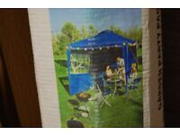 GARDEN PARTY PACK 2.7M GAZEBO WITH 2 SIDE PANELS