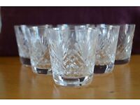 Royal Doulton Fine Crystal Tumblers (Set of 6) - Juno Pattern