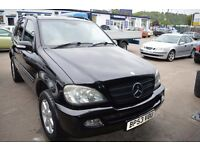 2004 Mercedes Benz M CLASS ML270 CDI AUTO IN GOOD CONDITION MOT UNTIL AUGUST 2017