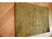 Rectangular NEXT green rug for sale - 100cm x 160cm