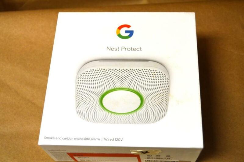 Google Nest Protect Wired Smoke and Carbon Monoxide Detector S3003LWES