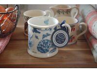 Brand New Portmeirion Mug Blue Botanic Four Available