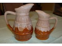 Pair of German Stoneware Jugs, One Litre and Half Litre, in Perfect Condition