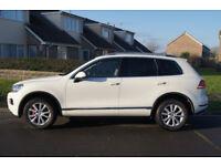 VW TOUAREG 3.0 VD TDI DIESEL 4X4 DVD LEATHER WHITE FSH IMMACULATE ( NOT BMW X5 AUDI Q7 RANGE ROVER