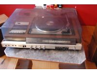 antique record player or collection