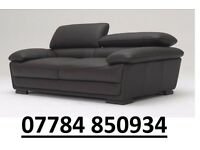 New leather 3 Seater only sofa black Next day delivery