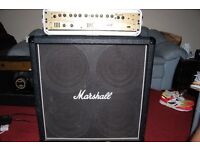 MARSHALL GUITAR AMP - 4x12 SPEAKER CAB & MPG 9004 SERIES 9000 PRE AMP / VALVESTATE 8008 POWER AMP
