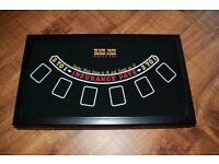 Deluxe-3-in-1-CASINO-GAME-SET-CRAPS-BOARD-ROULETTE-WHEEL