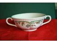 22 X NEW CHURCHILL HOTELWARE DOUBLE HANDLED SOUP/SERVING BOWLS, SUMATRA DESIGN.