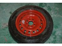 """13"""" Inch Space saver wheel (New Tyre)"""