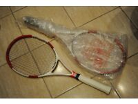 Wilson Six One 95s spin effect tennis rackets for sale. One new, the other lightly used