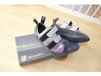 Kids Evolve rock climbing shoes - As new