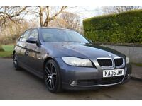 """FOR SALE 2005 BMW 320 DIESEL LONG MOT TILL OCTOBER 2017 AMAZING ON FUEL 18"""" ALLOY WHEELS £2500 OVNO"""