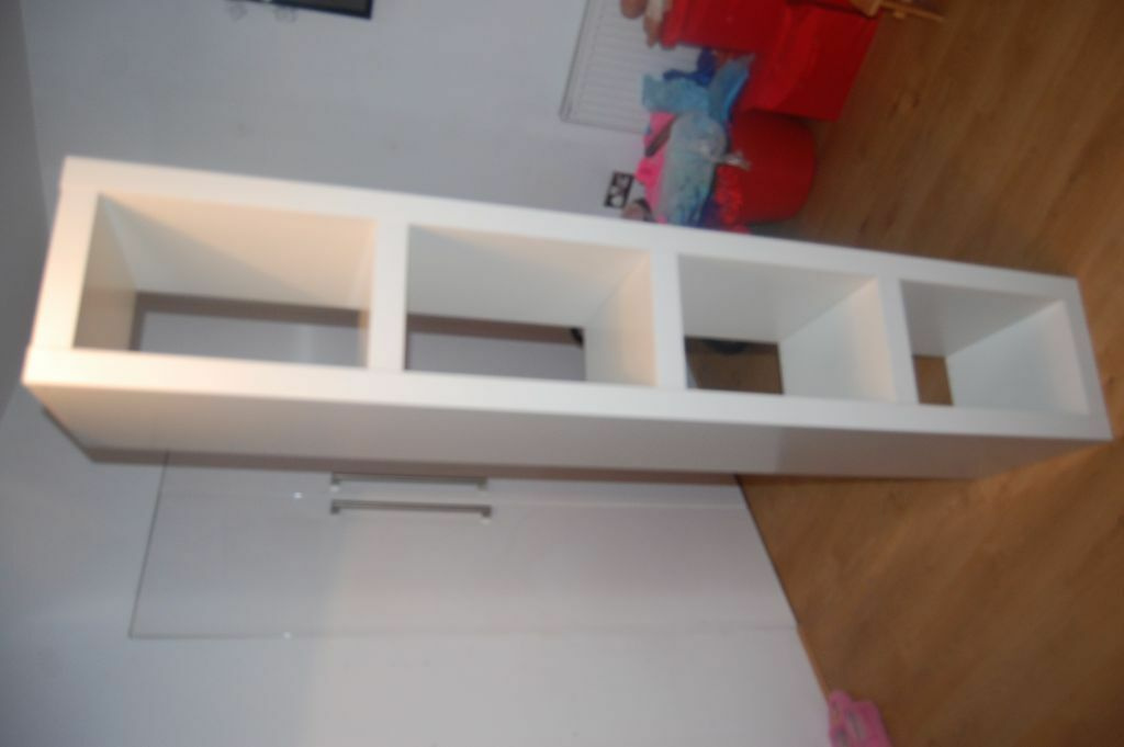 Ikea Discontinued Lack Tall Thin White Chunky Shelving